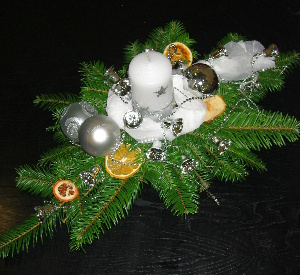 Vánoční aranžmá na stůl